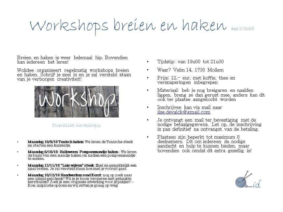 Workshop Breien En Haken Volwassenen Kinderen Asse Wolideebe