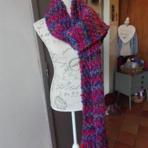 handmade sjaal balloon blauw