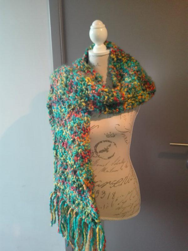 handmade sjaal balloon groen