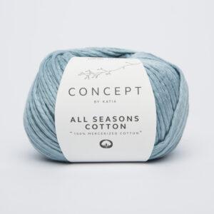 all seasons cotton licht blauw